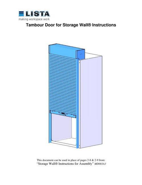 Storage Wall® Tambour Door Instructions   LISTA