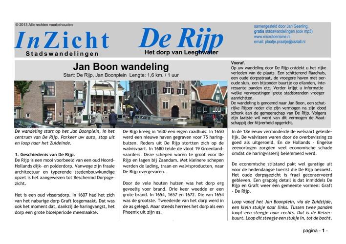95c9417b2a6 Stadswandeling De Rijp (NL) by Jan Geerling - Flipsnack