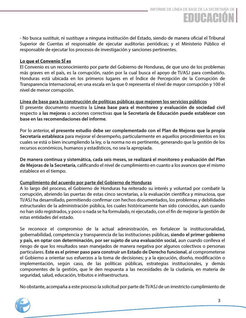 Resumen Ejecutivo Informe Línea Base Educación by ASJ - Flipsnack