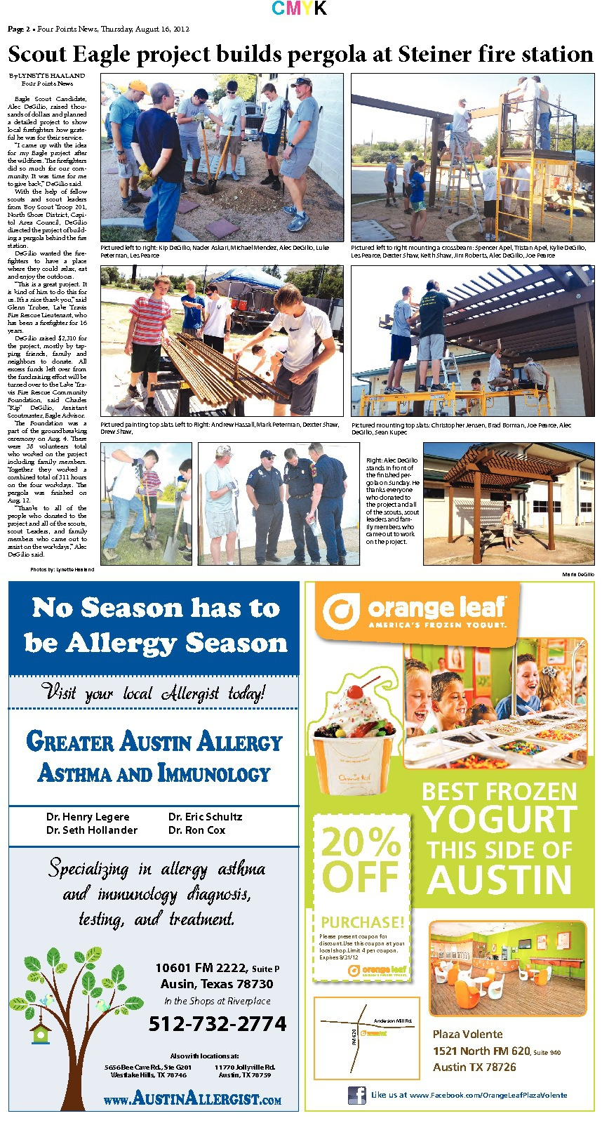 Four Points News August 17, 2012 Issue by Lynette Haaland