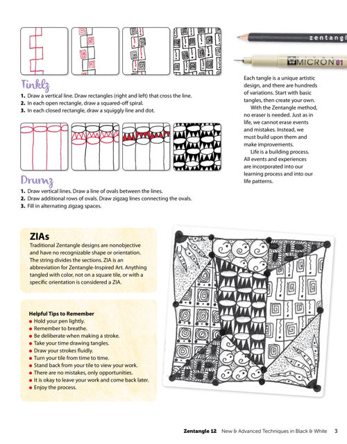 Zentangler 12 workbook edition fox chapel publishing next fandeluxe Image collections