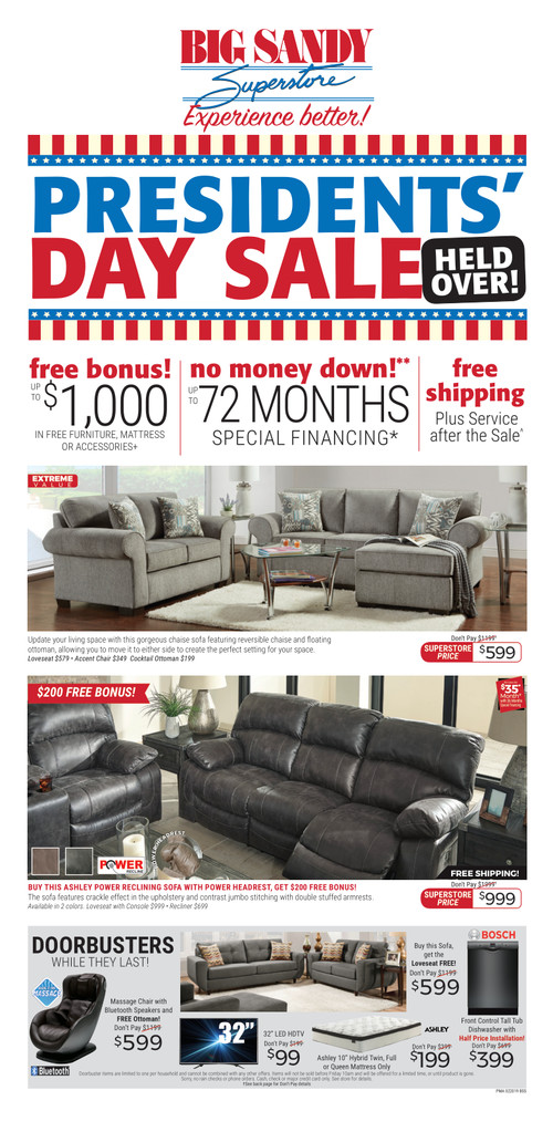 President Day Holdover Current Ad 1 Big Sandy Superstore