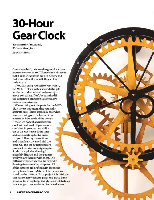 Making Wooden Gear Clocks Wooden Clock Books