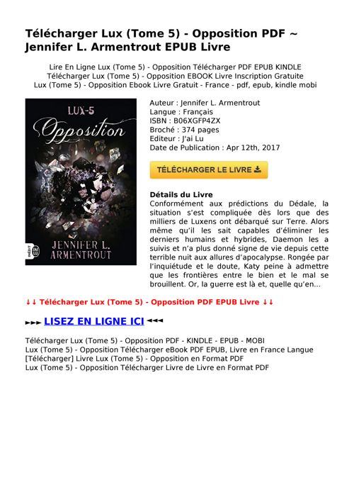 Telecharger Lux Tome 5 Opposition Pdf Epub By Kalva