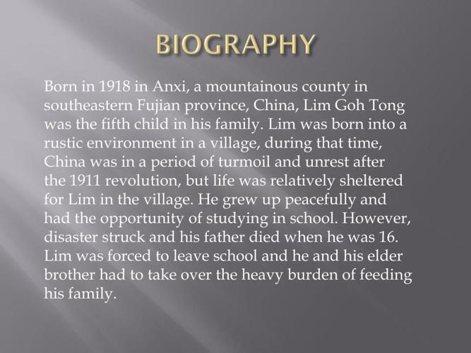 lim goh tong history