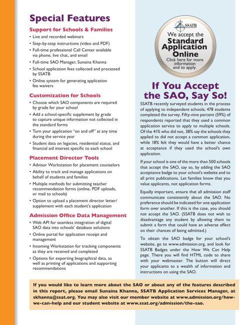 Standard Application Online User Report 2014 Enrollment