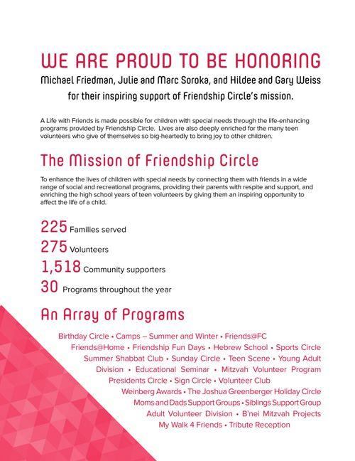 Awards Event Journal - Friendship Circle of Cleveland