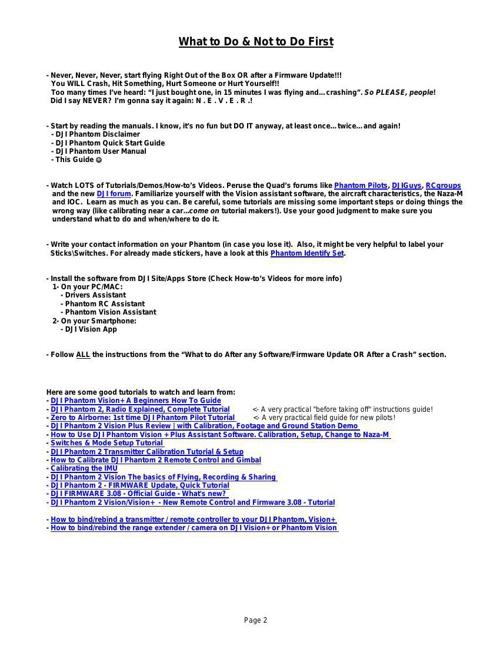 DJI Phantom Vision Summary Guide by Len - Flipsnack