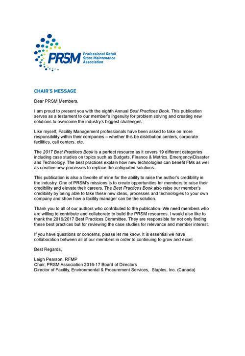 prsm association best practices rh prsm com Industrial Maintenance Practice Test Classification Study Guide