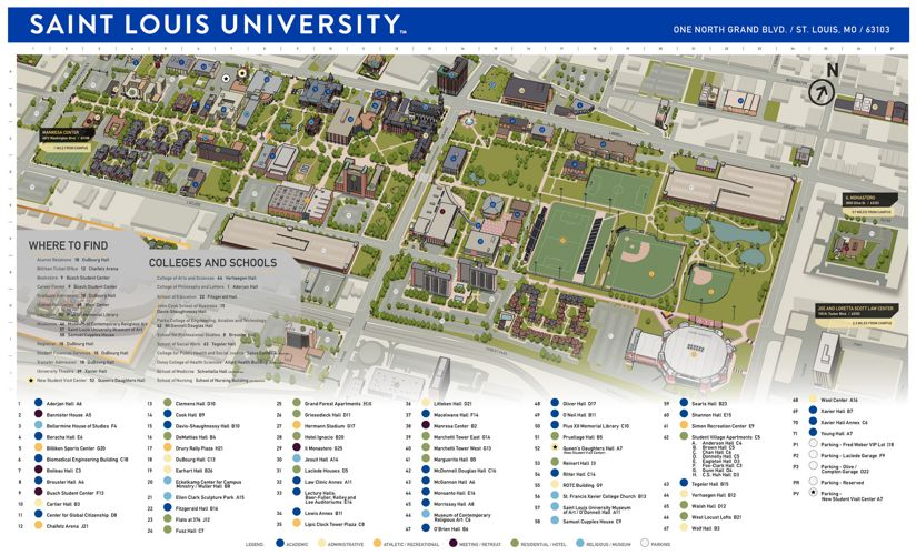 Slu Campus Map Slu Campus Map | States Maps