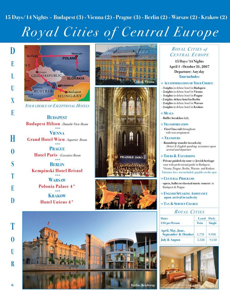tours to hungary and tours to europe, central and eastern europe