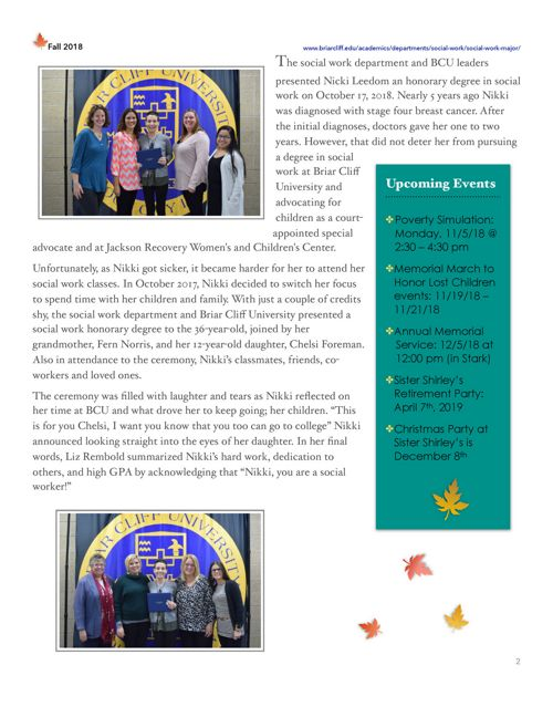 Newsletter - Department of Social Work   Briar Cliff University
