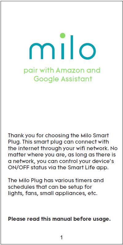 Download the Milo Smart Plug App – Milo