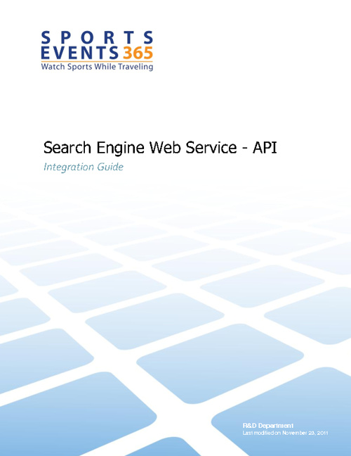 Sports Events 365 - Search Engine API by amir - Flipsnack
