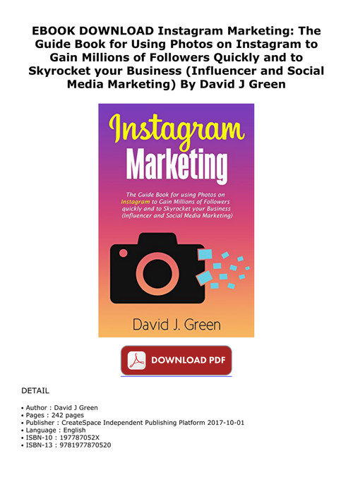 EBOOK DOWNLOAD Instagram Marketing: The Guide Book for Using by ...