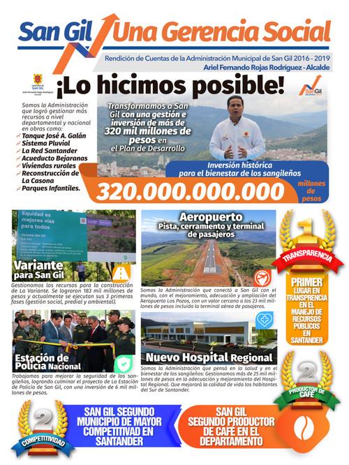 Periódico Rendición De Cuentas San Gil 2019