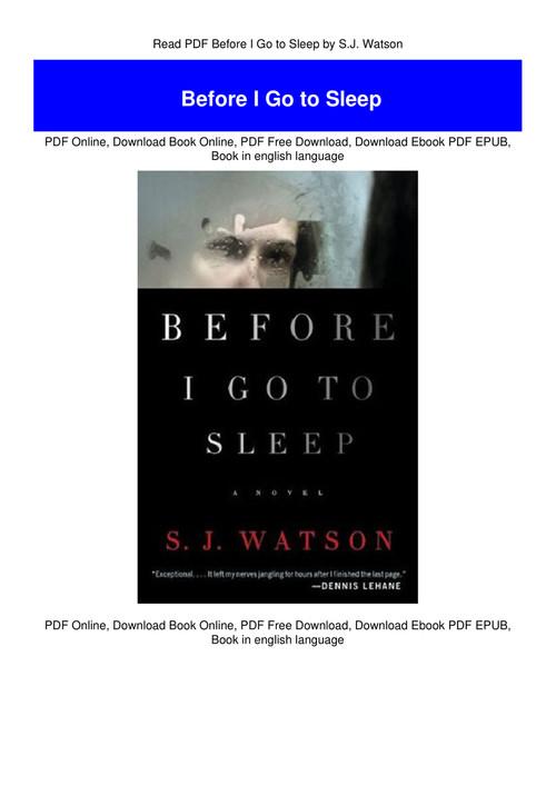 before i go to sleep free pdf download
