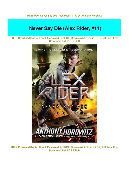 alex rider never say die read online free pdf