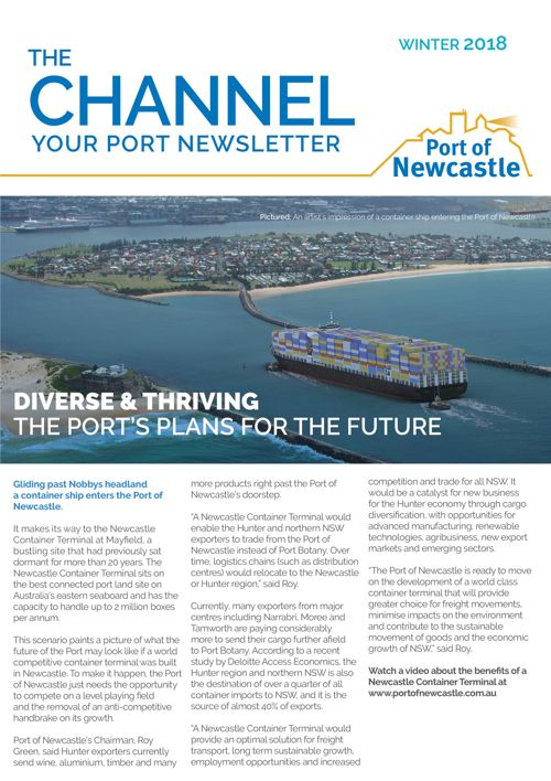 The Channel – Newcastle Port