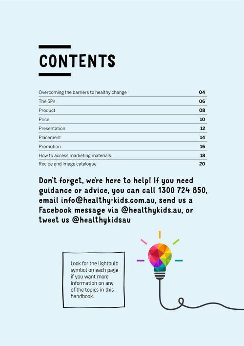 Marketing Food at School Program - Healthy Kids