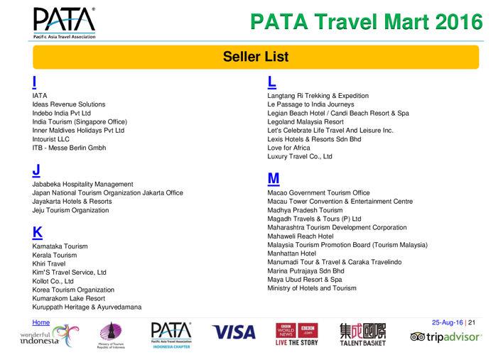 PATA Travel Mart 2016 - PATA