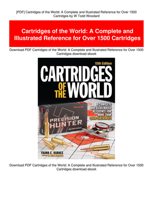 Pdf Cartridges Of The World A Complete And Illustrated Reference