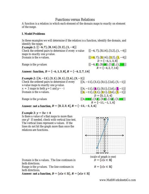 Relation Function Worksheet By Julielong Flipsnack