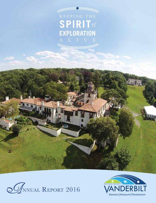 Vanderbilt Museum 2016 Annual Report by Pat Keeffe - Flipsnack