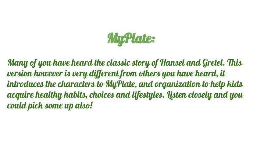 MyPlate Fairy Tale Story Book by KASEYHALL - Flipsnack