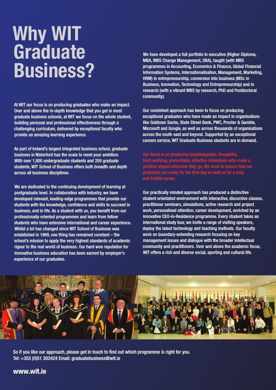 school of business post graduate brochure by waterfordit flipsnack