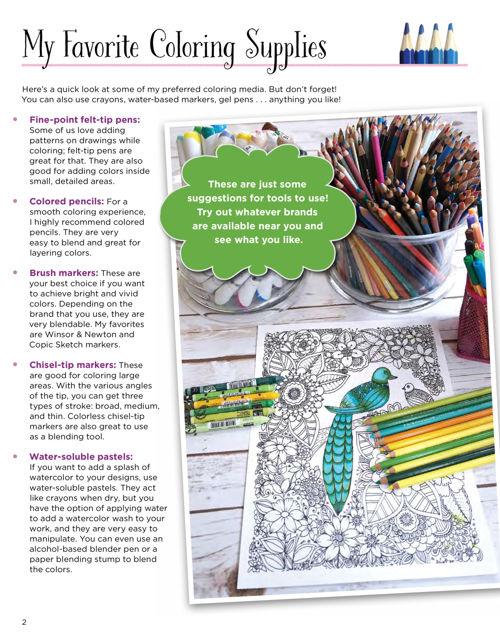 KC Doodle Art Beautiful Blooms Coloring Book Fox Chapel Publishing