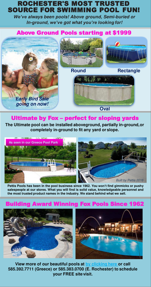 Specials Available at Pettis Pools & Patio
