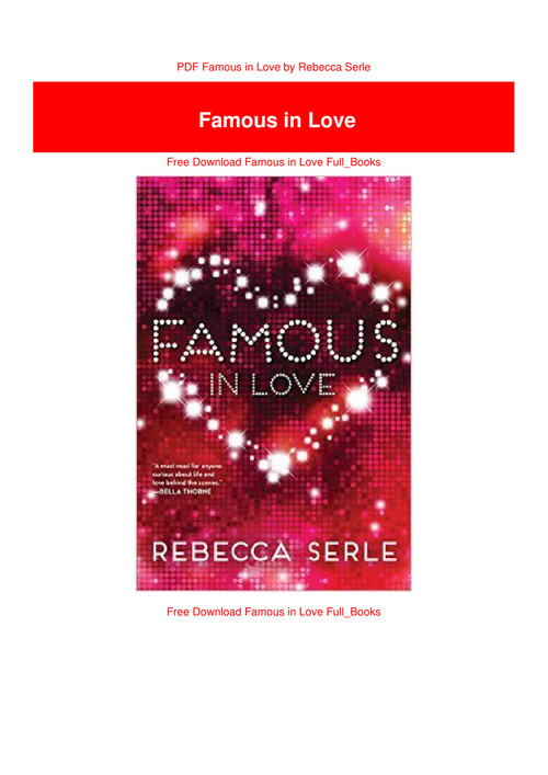 famous in love book pdf free
