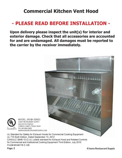 Installation Manual Vent Hood Guide by Bob Garza - Flipsnack