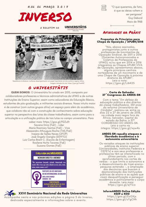 d50f85a1695 Boletim INVERSO n. 06 by Universitatis - Flipsnack