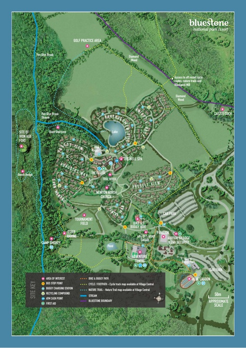 Bluestone Wales Map Bluestone Wales Resort Map by simon greenfield   Flipsnack Bluestone Wales Map