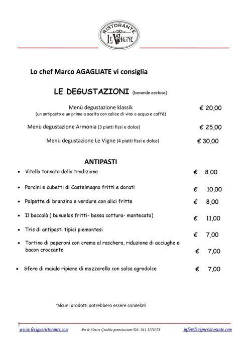 Ristorante Le Vigne Ristorante Di Qualità Torino