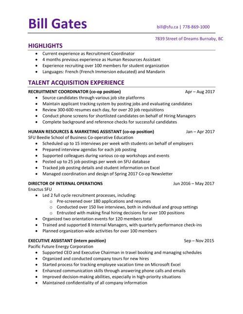 resume gallery business 1 by sfu work flipsnack