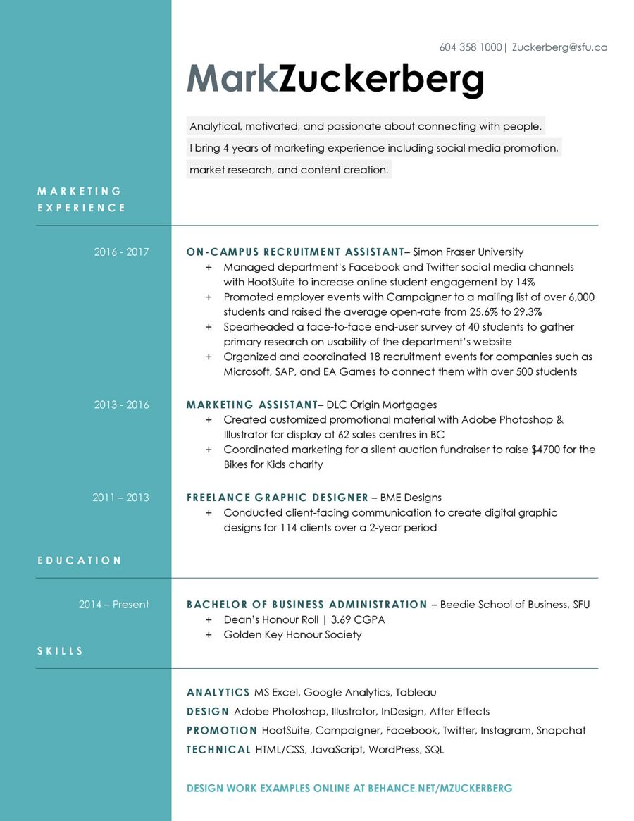 Resume Gallery (BUSINESS) (1) by SFU Work... - Flipsnack