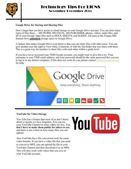 Tech Tips for Lions November-December 2015 by callen - Flipsnack