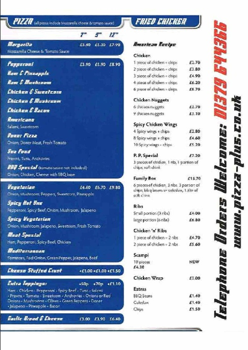 Pizza Plus Menu By Robert Green Flipsnack