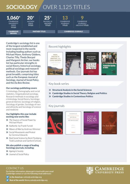 Sociology books and journals online by camjnls - Flipsnack