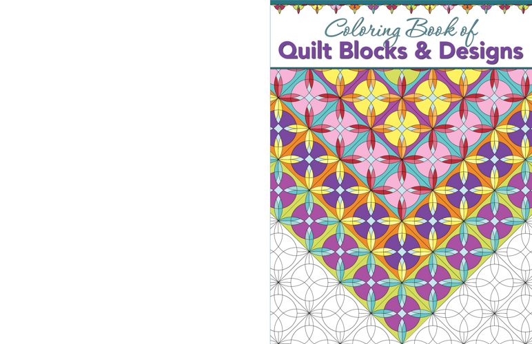 Coloring Book Of Quilt Blocks Designs Fox Chapel Publishing