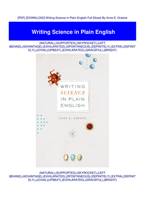 writing science in plain english free download