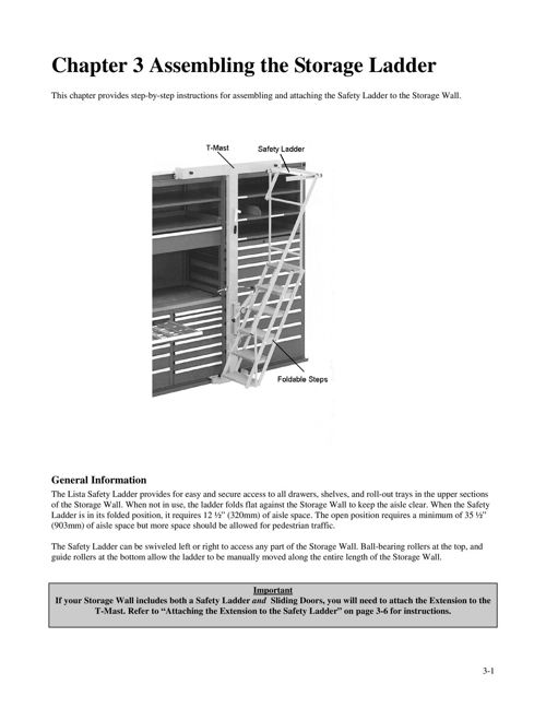 Storage Wall® Safety Ladder Instructions   LISTA