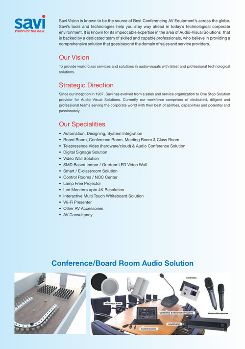HD Audio Video Conference Solutions | Signage Display Solutions