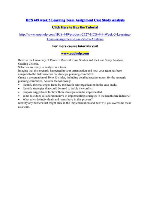 case study analysis powerpoint hcs 449