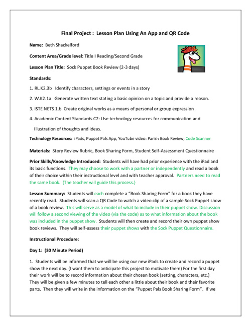 revised sock puppet lesson plan grade 2 by bshackelford flipsnack