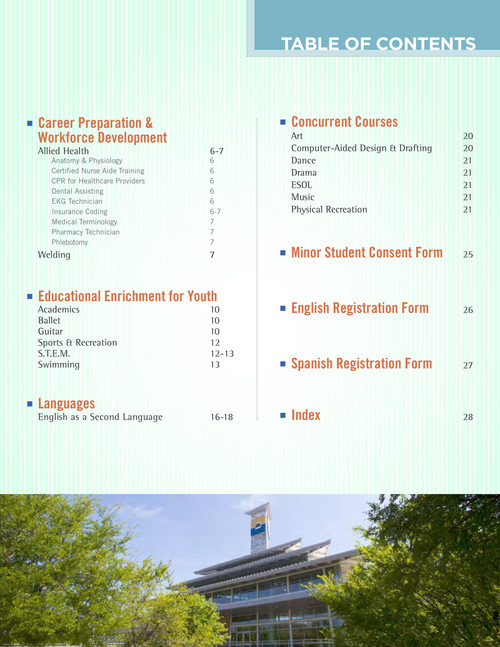 Continuing Education Catalog Mountain View College