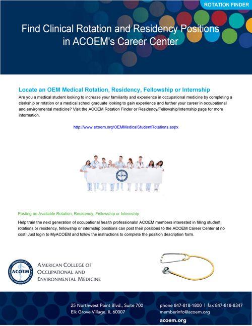 ACOEM Membership Benefits for Medical Students by American